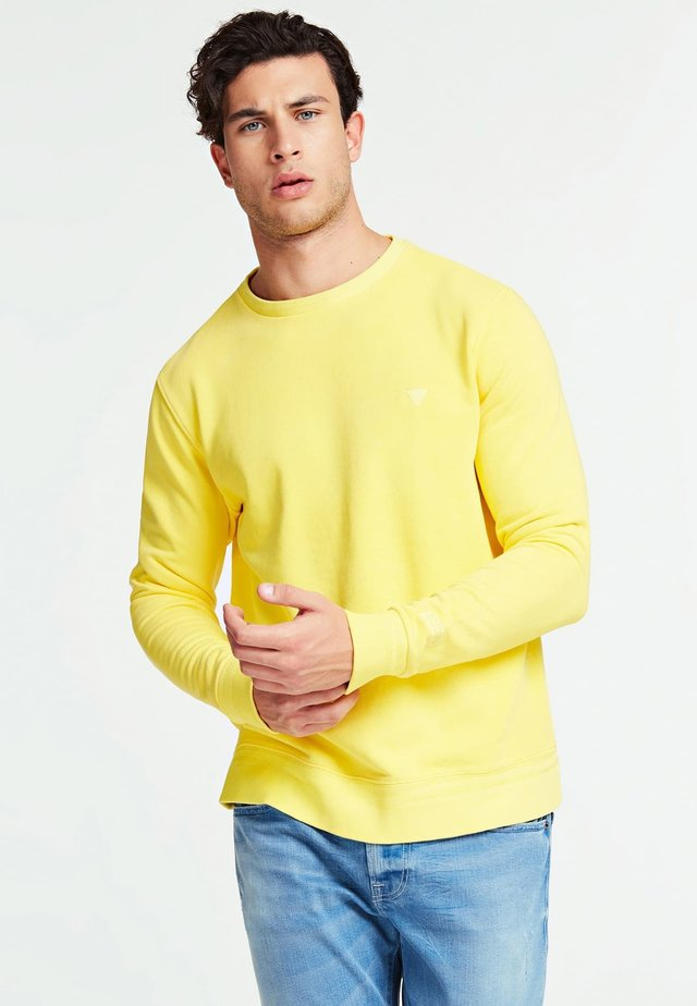 GUESS SWEATSHIRT BAUMWOLLE - Sweater - gelb