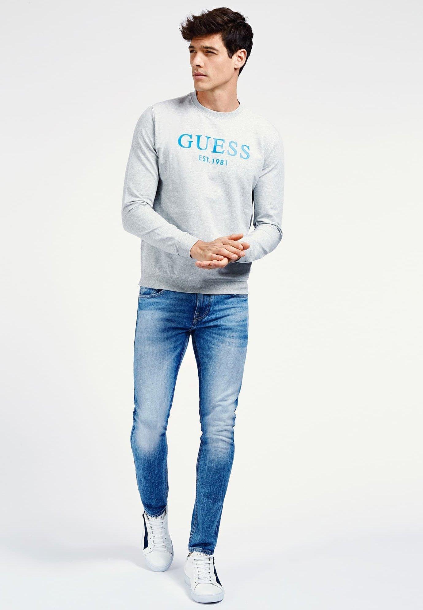 Guess Sweatshirt hellgrau ZALANDO.FR
