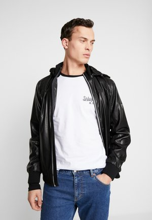 SPORTY - Faux leather jacket - jet black
