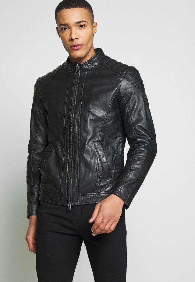 GLAM ROCK BIKER - Leren jas - jet black