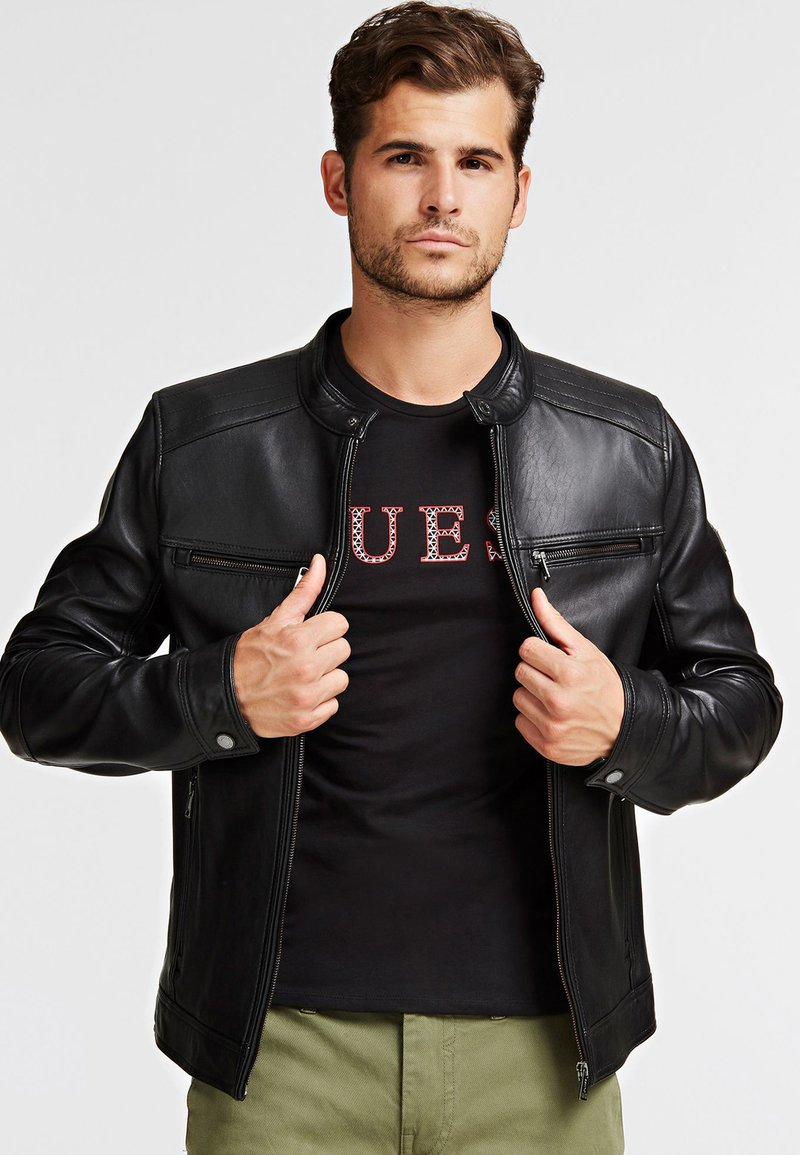 Guess - Leather jacket - black