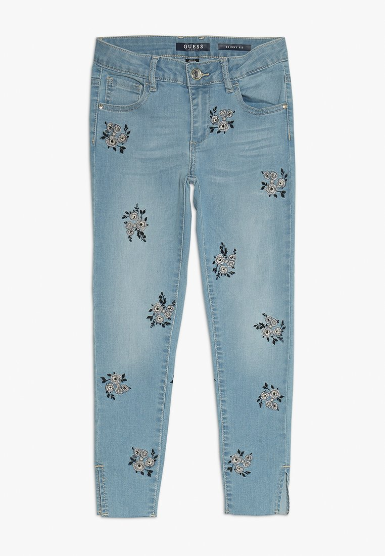 Guess - PANTS - Vaqueros pitillo - silver flower blue