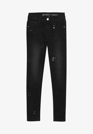 JUNIOR PANTS - Jeansy Skinny Fit - black drop wash