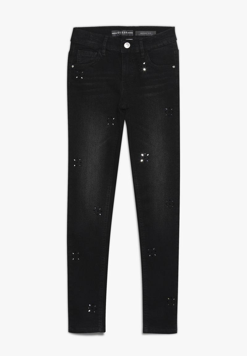 Guess - JUNIOR PANTS - Skinny džíny - black drop wash