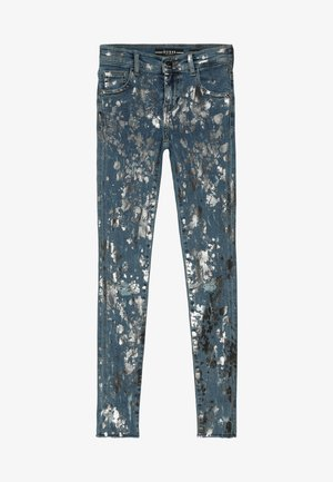 JUNIOR SKINNY PANTS - Skinny džíny - glacial damage blue