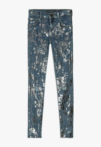 Guess - JUNIOR SKINNY PANTS - Skinny džíny - glacial damage blue - 0