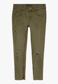 Guess - JUNIOR BULL - Jeansy Straight Leg - light military green - 0