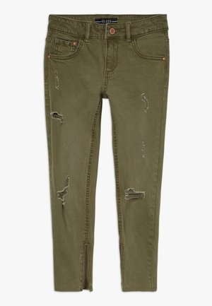 JUNIOR BULL - Džíny Straight Fit - light military green