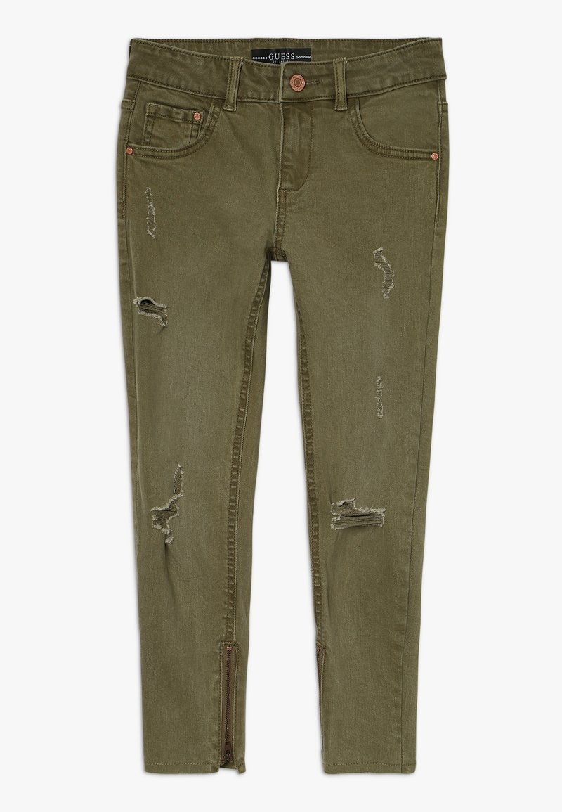 Guess - JUNIOR BULL - Jeansy Straight Leg - light military green