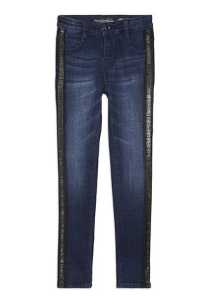JUNIOR HIGH WAIST PANTS - Skinny džíny - rinse blue shaded
