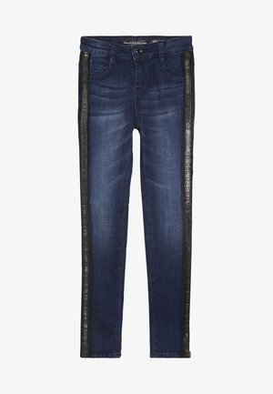 JUNIOR HIGH WAIST PANTS - Jeans Skinny - rinse blue shaded