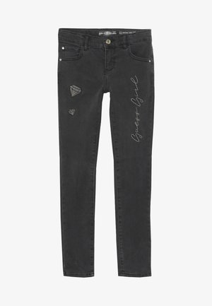 JUNIOR SKINNY PANTS - Skinny džíny - black faded denim