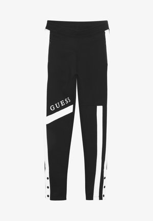 JUNIOR EXCLUSIVE ACTIVEWEAR - Tracksuit bottoms - jet black
