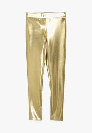 JUNIOR COATED - Leggingsit - metallic gold