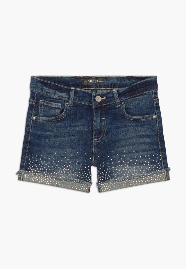 JUNIOR - Jeansshort - iridescent blue wash