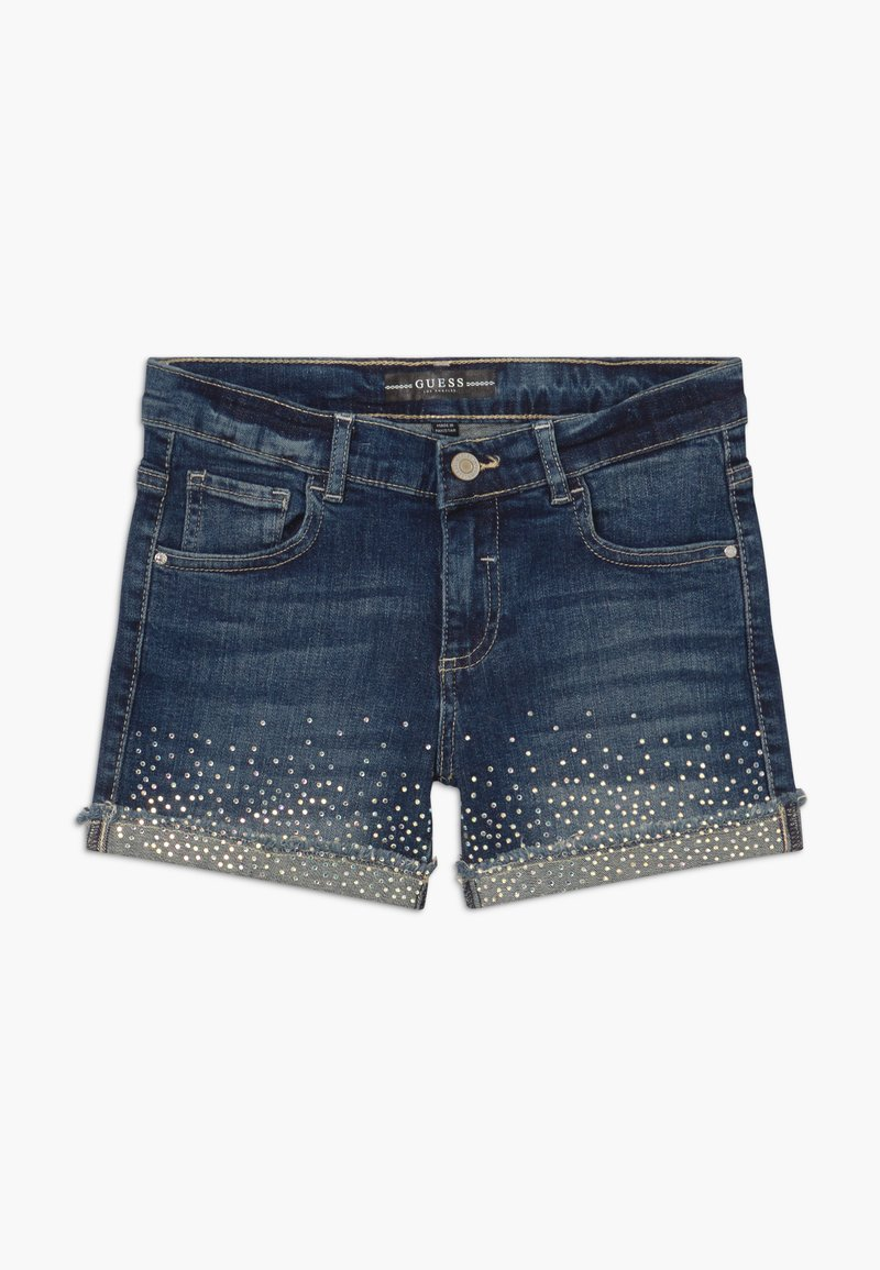 Guess - JUNIOR - Szorty jeansowe - iridescent blue wash