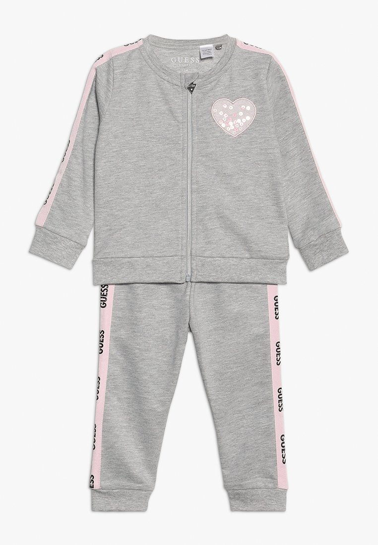 Guess - PANTS BABY SET - Hoodie met rits - light heather grey