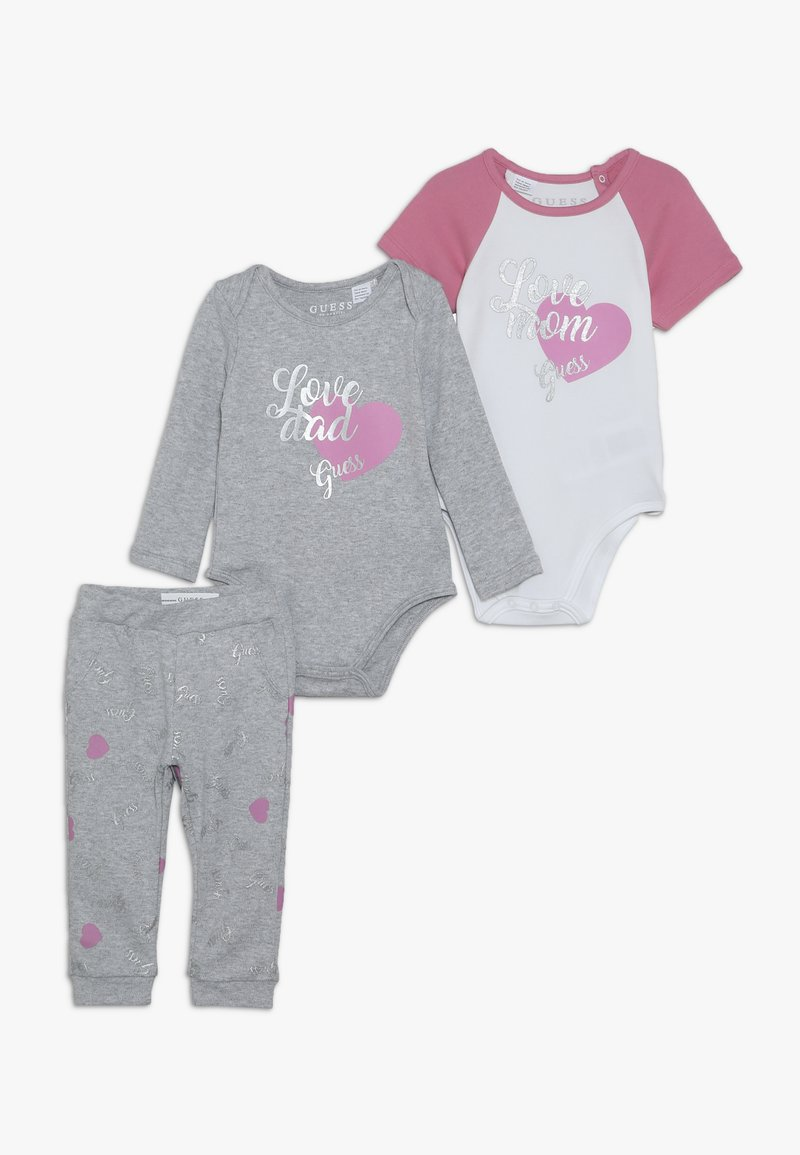 Guess - BODY PANTS SET - Baby gifts - mottled grey