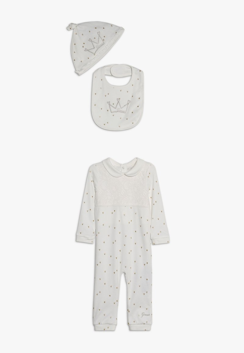 Guess - BABY SET - Tuch - white clay