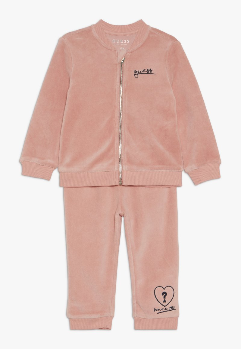 Guess - ACTIVE PANTS BABY SET - Zip-up hoodie - slip pink