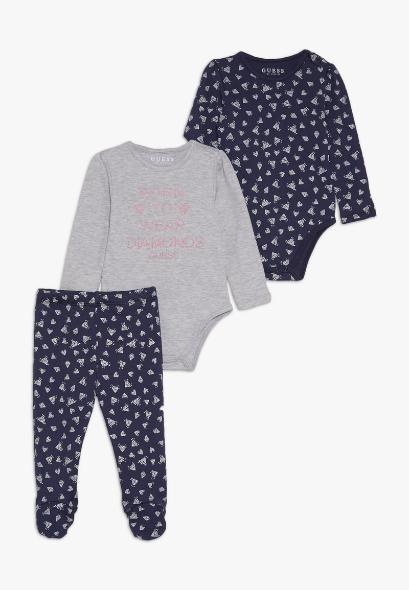 Guess - PANTS BABY SET - Trousers - blue diamond