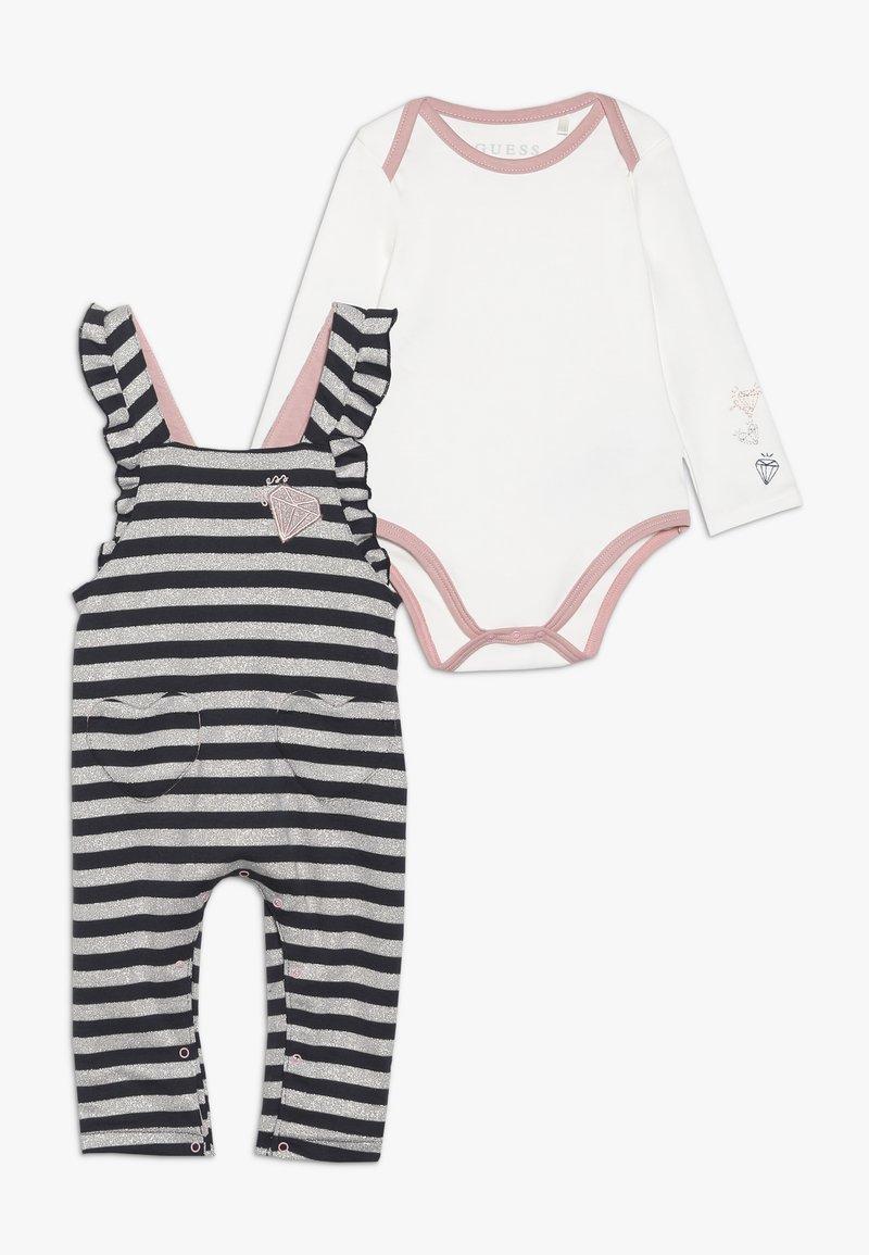 Guess - BABY SET - Body - white/dark blue