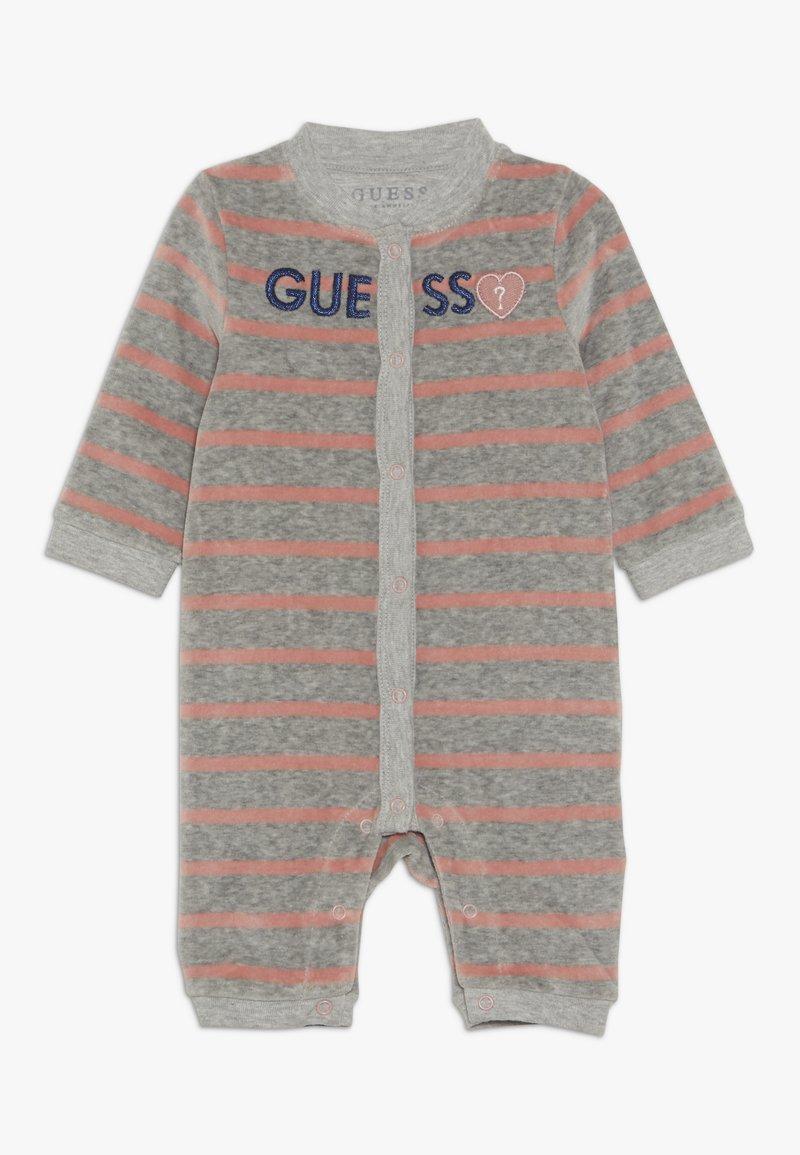 Guess - CHENILLE ROMPER BABY - Jumpsuit - melange grey
