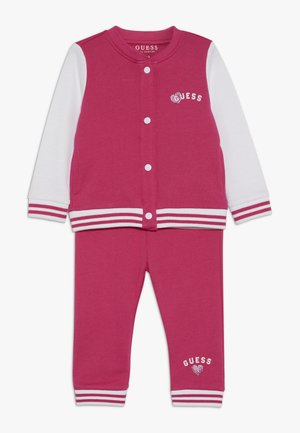 HOODED ACTIVE PANTS BABY SET  - Hoodie met rits - rouge/shocking pink