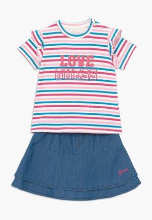 SKIRT BABY SET - Gonna a campana - rainbow stripe red