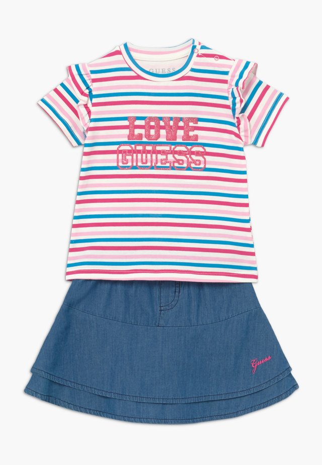 SKIRT BABY SET - A-lijn rok - rainbow stripe red