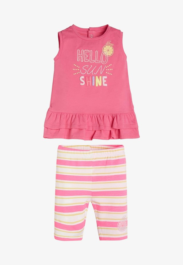 SET T-SHIRT UND LEGGINGS - Legging - rose
