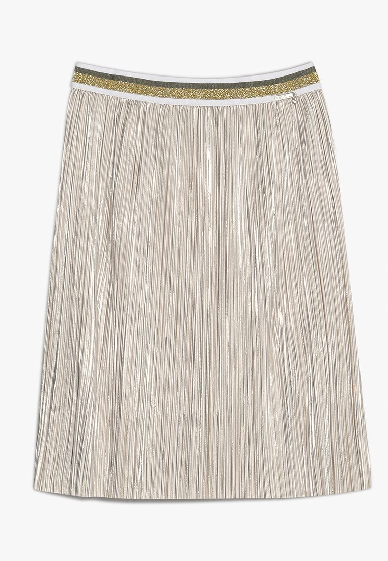 Guess - SKIRT - Falda plisada - light gold