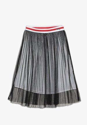 JUNIOR LONG SKIRT - Spódnica trapezowa - jet black