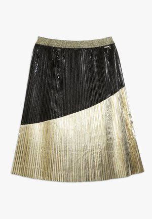 JUNIOR PLEATED MIDI SKIRT - Áčková sukně - black/gold