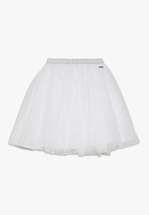 JUNIOR PLUMETIS SKIRT - A-line skirt - true white