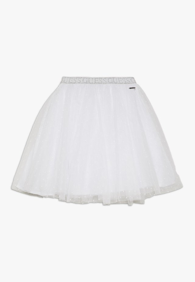 JUNIOR PLUMETIS SKIRT - A-lijn rok - true white