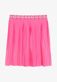 Guess - JUNIOR PLEATED MIDI SKIRT - Plisovaná sukně - pop pink - 0