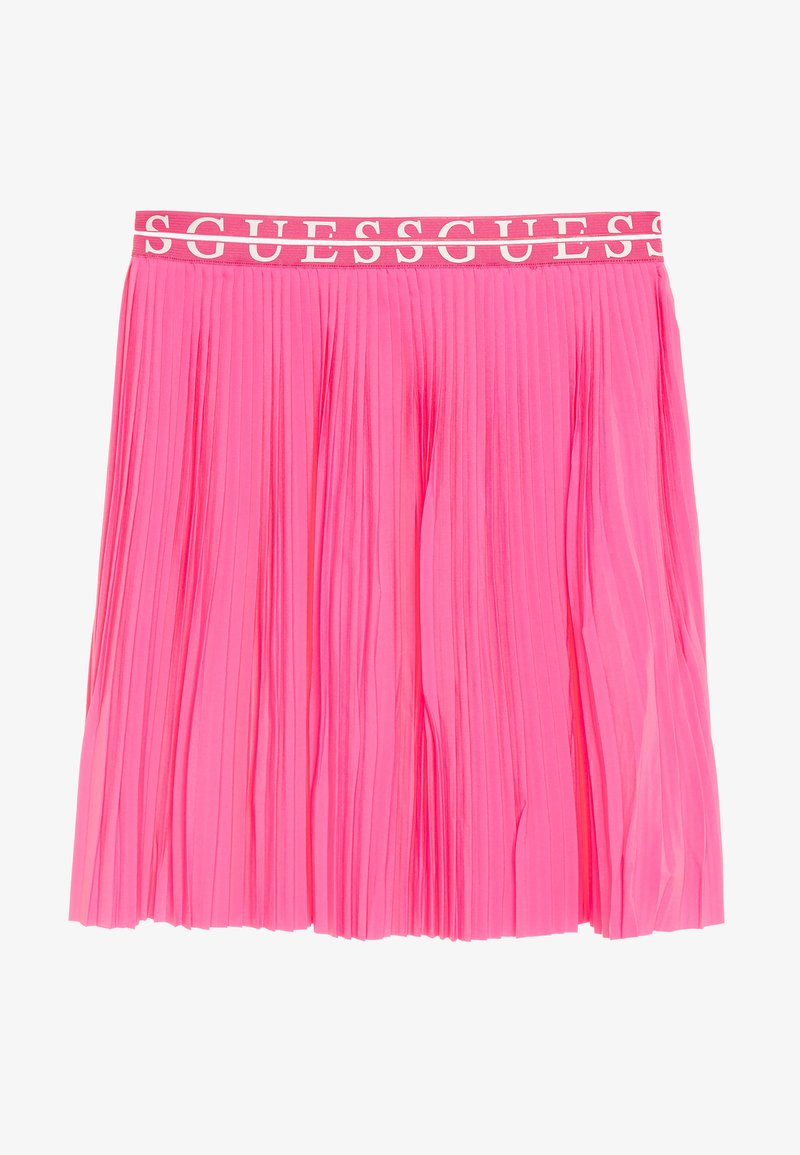 Guess - JUNIOR PLEATED MIDI SKIRT - Plisovaná sukně - pop pink