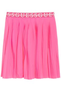 Guess - JUNIOR PLEATED MIDI SKIRT - Plisovaná sukně - pop pink - 1