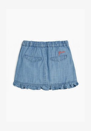 GONNA INDACO - Denim skirt - blu multi