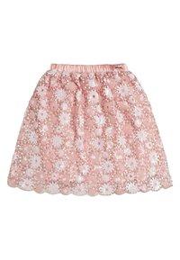 Guess - JUPE PLAQUE MÉTALLIQUE - Spódnica trapezowa - light pink - 0