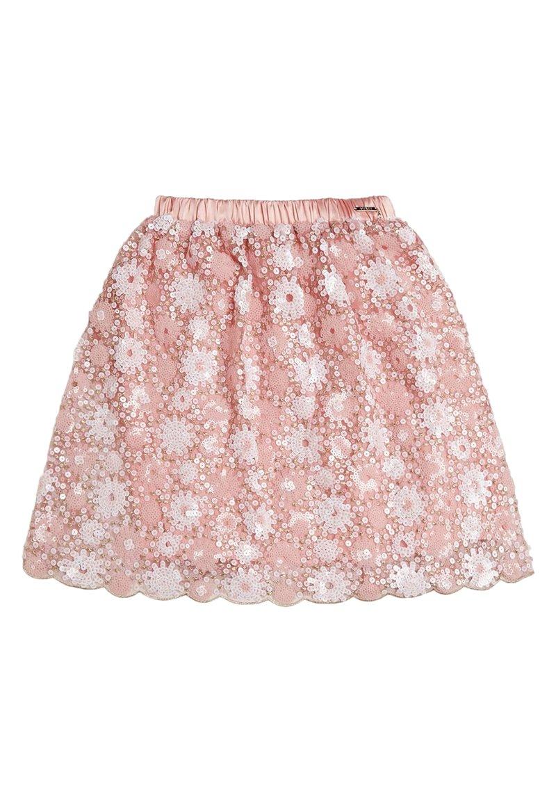 Guess - JUPE PLAQUE MÉTALLIQUE - Spódnica trapezowa - light pink
