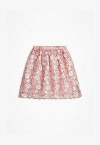 Guess - JUPE PLAQUE MÉTALLIQUE - Spódnica trapezowa - light pink - 1