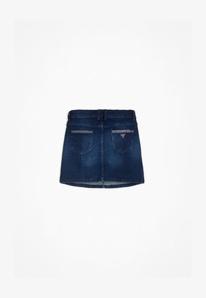 JEANSROCK STRASS - Jupe en jean - blau