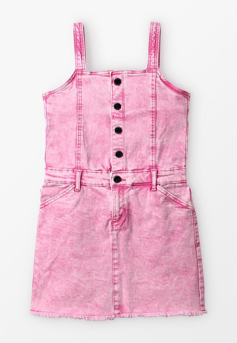 Guess - Denim dress - pink wall