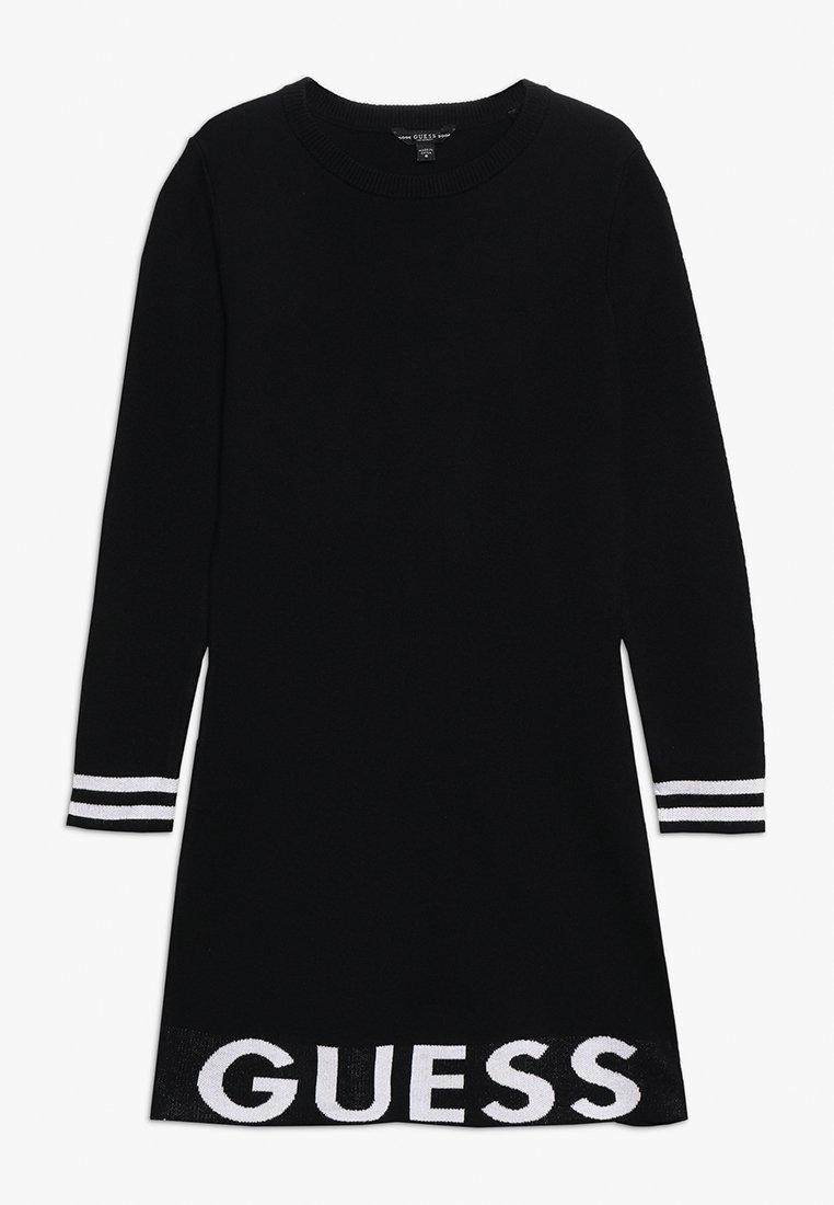 Guess - JUNIOR DRESS - Gebreide jurk - jet black