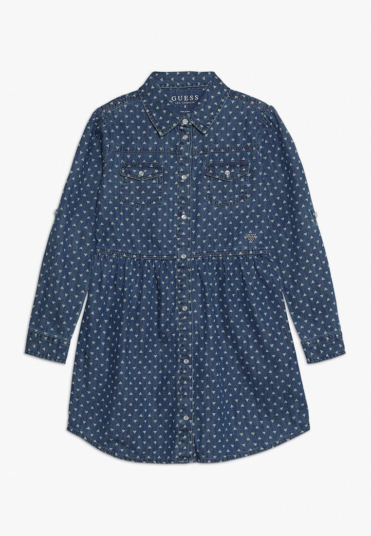Guess - JUNIOR DRESS CORE - Denimové šaty - blue denim