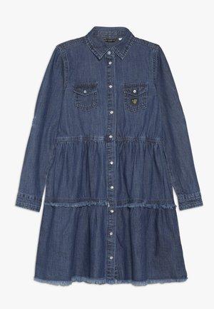 JUNIOR DRESS - Jeansklänning - dark plain blue wash