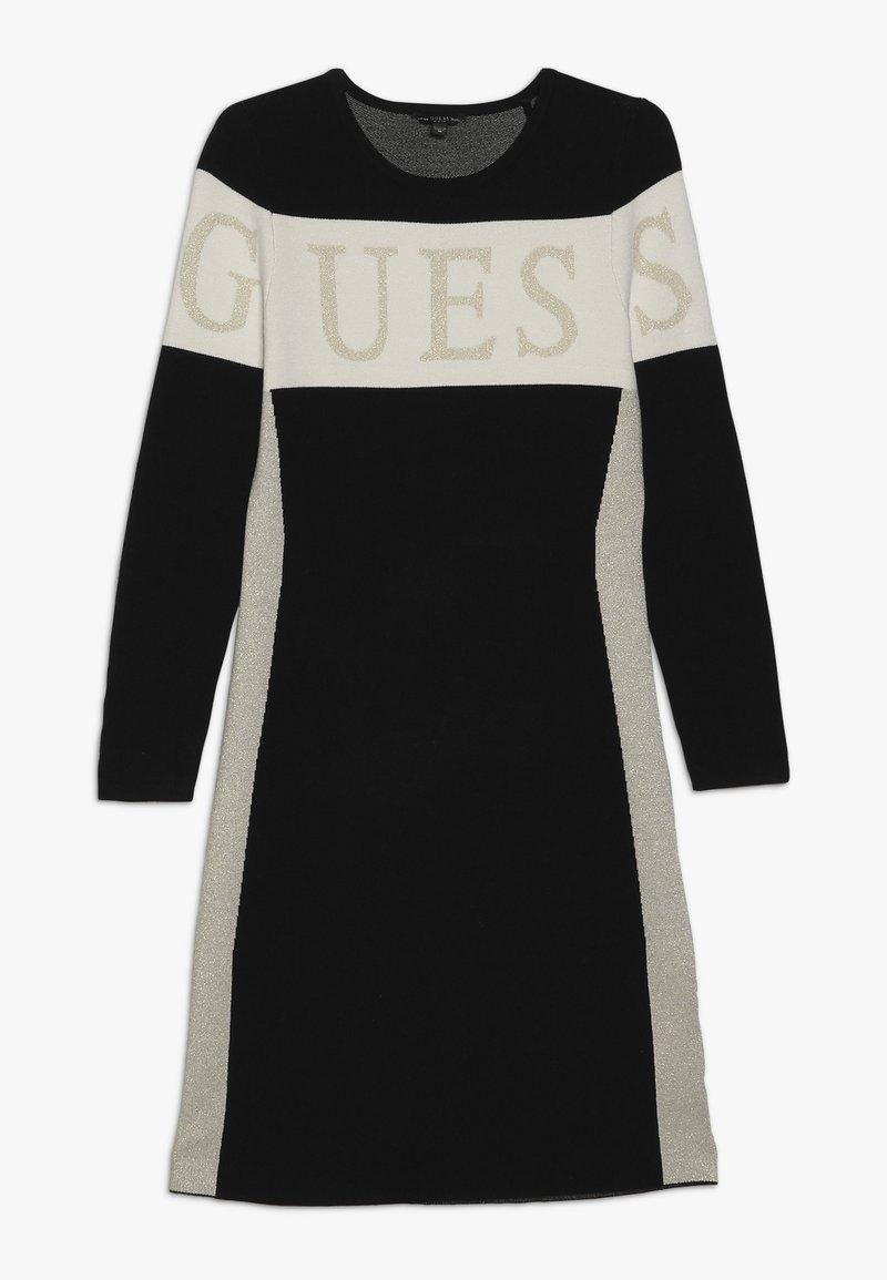 Guess - JUNIOR DRESS - Stickad klänning - jet black