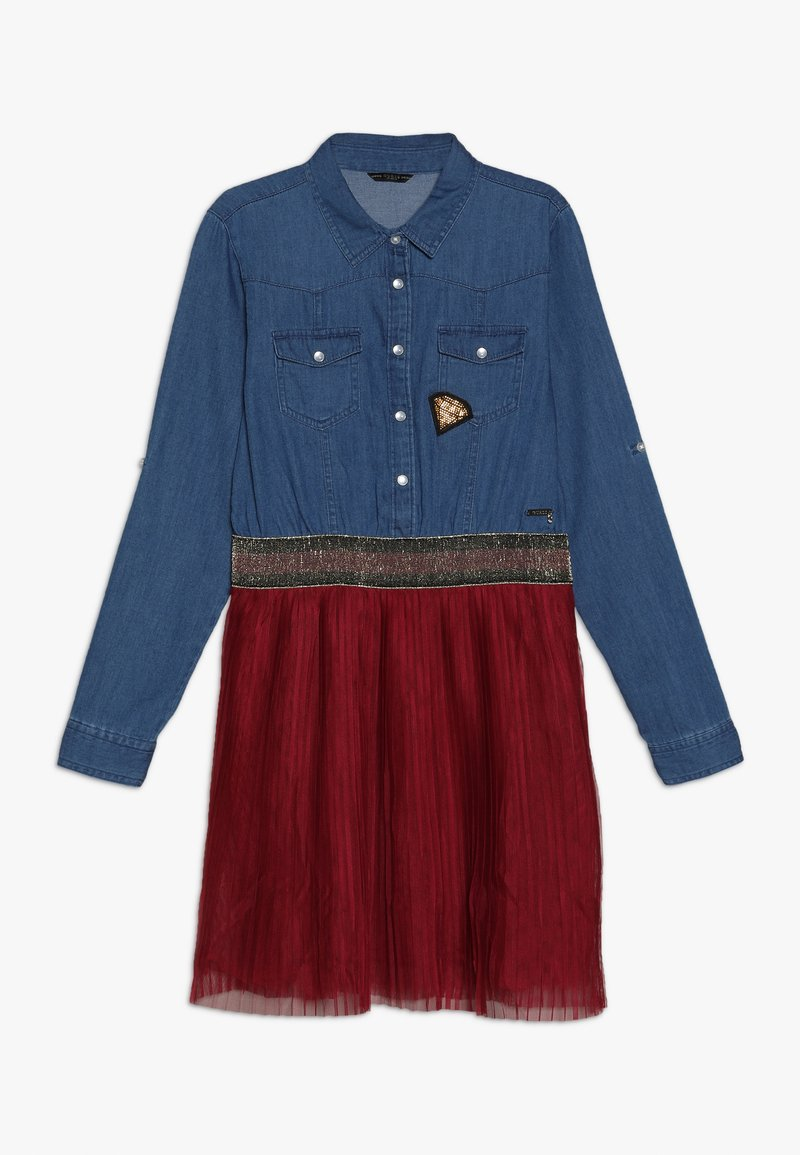 Guess - JUNIOR SLEEVE DRESS - Robe en jean - light blue denim